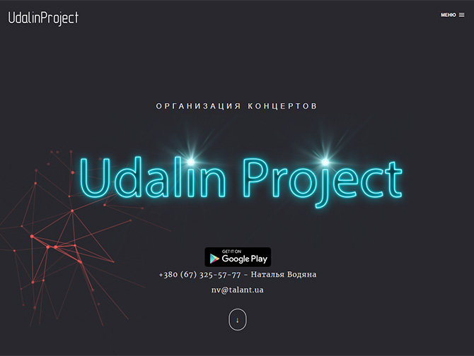 Сайт виконавця Udalin Project
